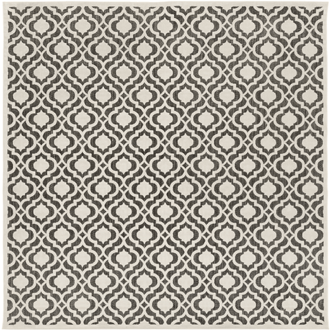 Image of Plessing Outdoor Rug ~ Ivory & Black - Cece & Me - Home and Gifts