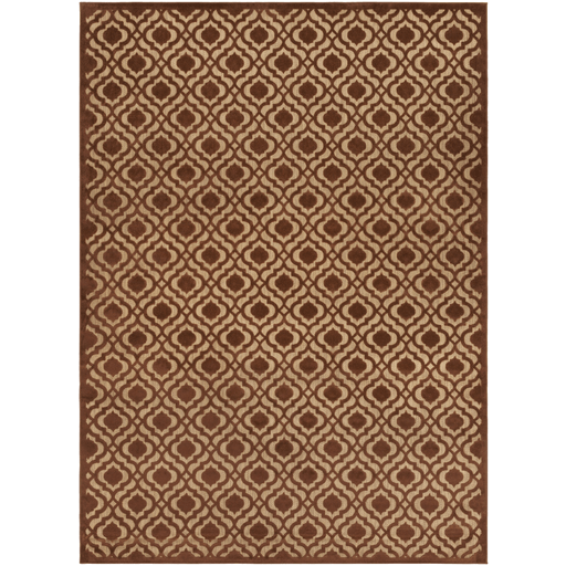 Plessing Outdoor Rug ~ Rust & Tan - Cece & Me - Home and Gifts