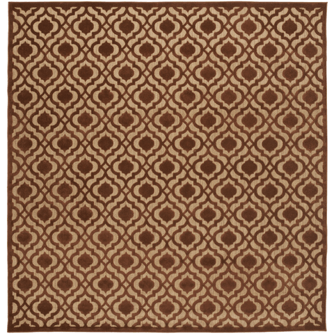 Image of Plessing Outdoor Rug ~ Rust & Tan - Cece & Me - Home and Gifts