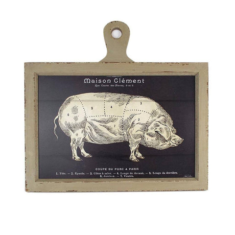 Pork Chop French Market Plaque - Cece & Me - Home and Gifts