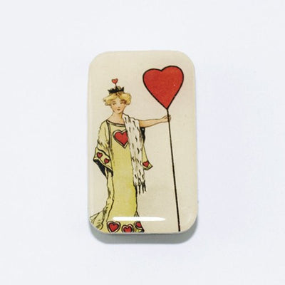 Vintage Queen of Hearts Pill Box, Slider Tin, Mint Tin, Favor Tin - Small - Cece & Me - Home and Gifts