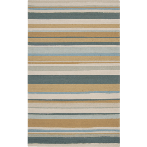 Raffon Rug ~ Gray/Camel/Dark Green/Pale Blue - Cece & Me - Home and Gifts