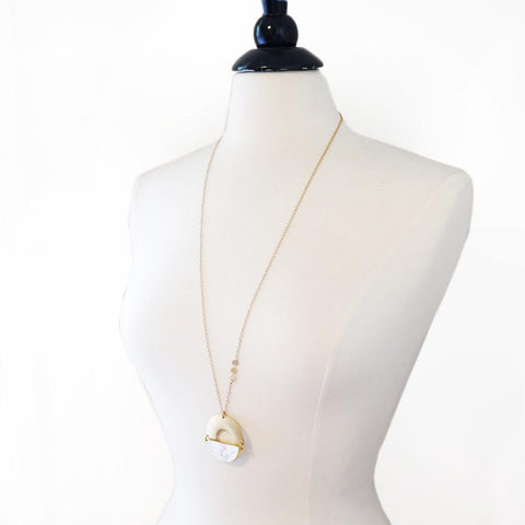 Image of Ramses Necklace ~ Howlite - Cece & Me - Home and Gifts