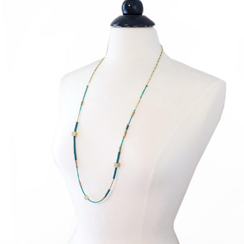 Image of Rania Necklace ~ Turquoise - Cece & Me - Home and Gifts
