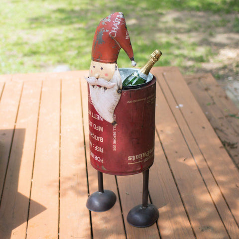 Recycled Iron Santa Cooler - Cece & Me - Home and Gifts