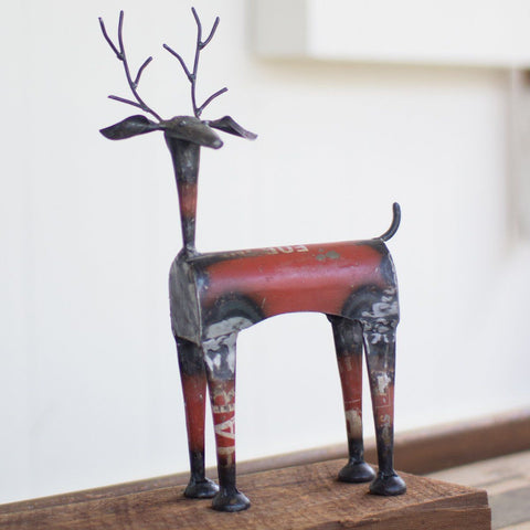 Recycled Metal Red Deer - Cece & Me - Home and Gifts