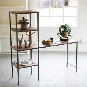 Recycled Wood & Metal Work Station - Cece & Me - Home and Gifts