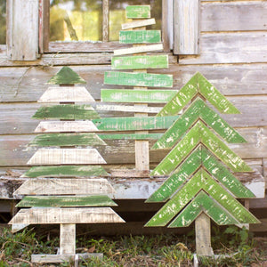 Recycled Wood Trees with Stands (Set of 3) - Cece & Me - Home and Gifts