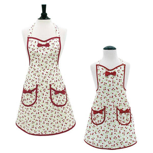 Retro Cherries Audrey Apron ~ Mommy & Me - Cece & Me - Home and Gifts