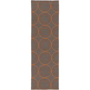 Retter Rug ~ Burnt Orange & Dark Brown - Cece & Me - Home and Gifts
