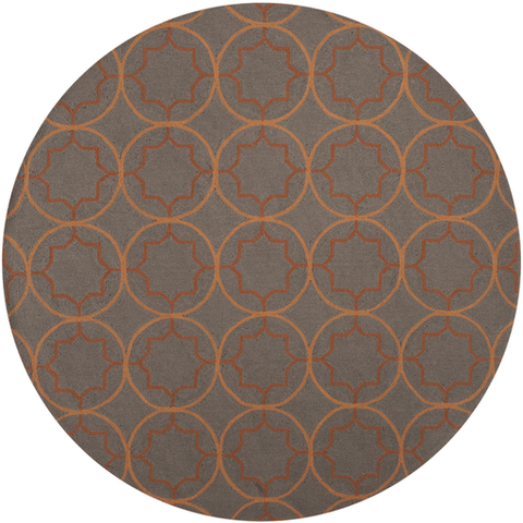 Image of Retter Rug ~ Burnt Orange & Dark Brown - Cece & Me - Home and Gifts