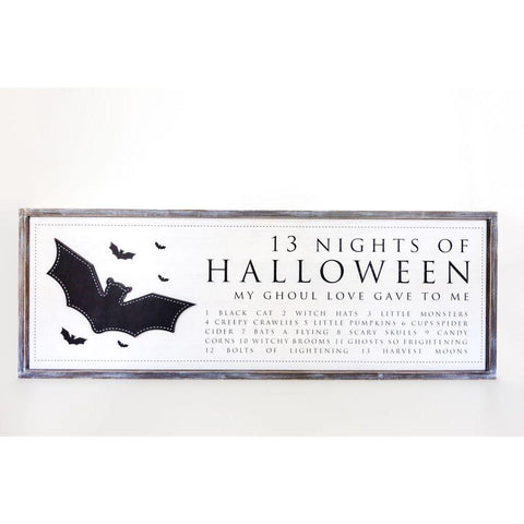 Reversible Wood-framed Sign ~ Halloween/Harvest - Cece & Me - Home and Gifts