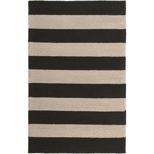 Roney Rug ~ Black & Beige - Cece & Me - Home and Gifts
