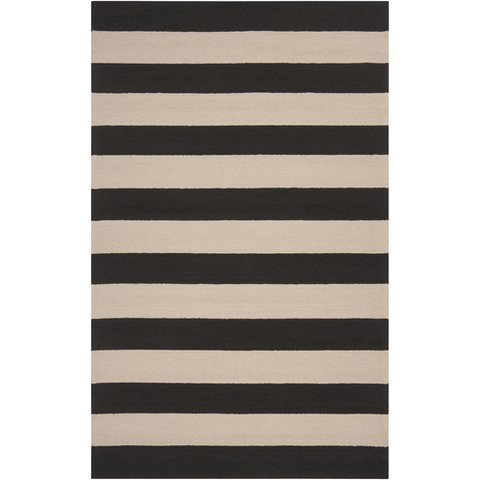 Image of Roney Rug ~ Black & Beige - Cece & Me - Home and Gifts