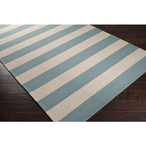 Image of Roney Rug ~ Teal & Beige - Cece & Me - Home and Gifts