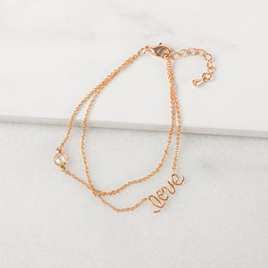 Rose Gold Love Bracelet - Cece & Me - Home and Gifts