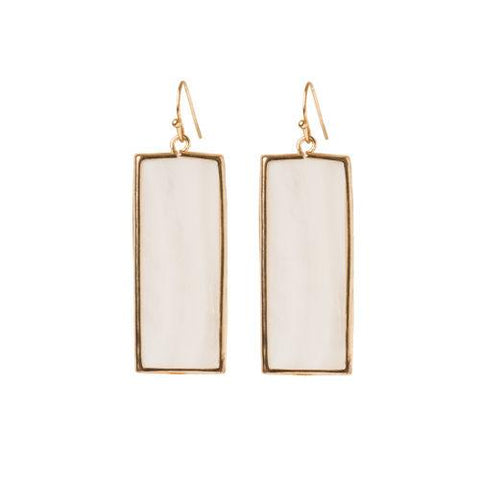 Rosie Gold Earrings ~ Mother of Pearl - Cece & Me - Home and Gifts