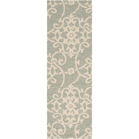 Rosling Rug ~ Sea Foam/Emerald/Dark Brown - Cece & Me - Home and Gifts