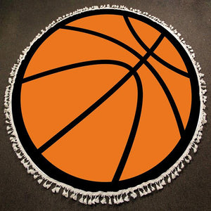 Round Beach Towel ~ Basketball - Cece & Me - Home and Gifts