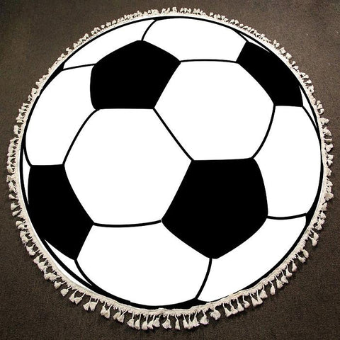 Round Beach Towel ~ Soccer - Cece & Me - Home and Gifts