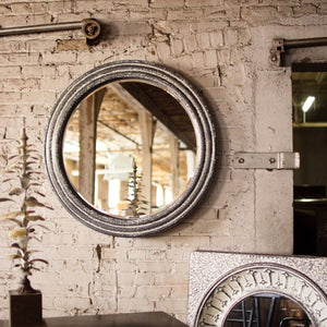 Round Metal Wall Mirror - Cece & Me - Home and Gifts