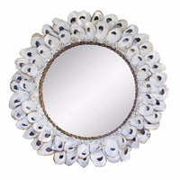 Round Oyster Shell Mirror ~ Large
