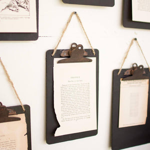 Rustic Black Clipboard ~ Photo/Note Holder (Set of 6) - Cece & Me - Home and Gifts