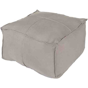 Solid Linen Pouf ~ Medium Gray - Cece & Me - Home and Gifts