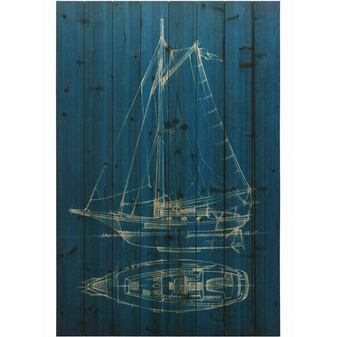 Sailing II ~ Solid Fir Wood Planks - Cece & Me - Home and Gifts