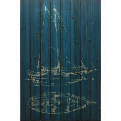 Sailing I ~ Solid Fir Wood Planks - Cece & Me - Home and Gifts