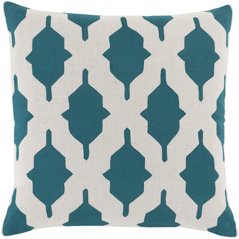 Image of Salma Pillow ~ Teal/Khaki - Cece & Me - Home and Gifts