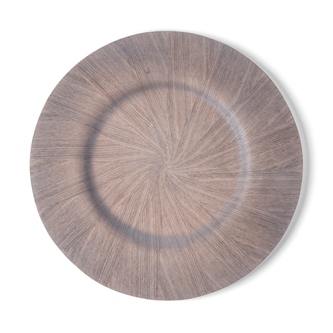 Samara Ash Veneer Charger Plate - Gray (Set of 6) - Cece & Me - Home and Gifts