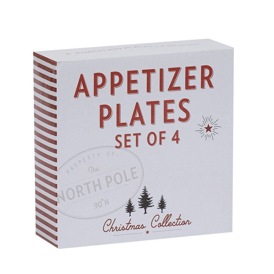 Santa's Workshop Porcelain Appetizer Plates (Set of 4)