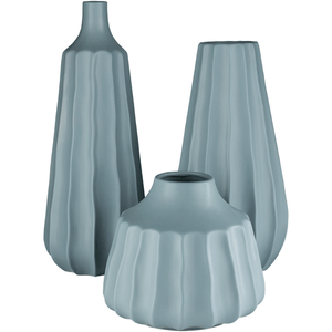 Santino Vase ~ Denim (Set of 3) - Cece & Me - Home and Gifts