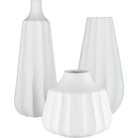 Santino Vase ~ White (Set of 3) - Cece & Me - Home and Gifts