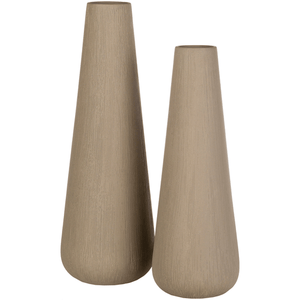Saylor Vase ~ Taupe (Set of 2) - Cece & Me - Home and Gifts