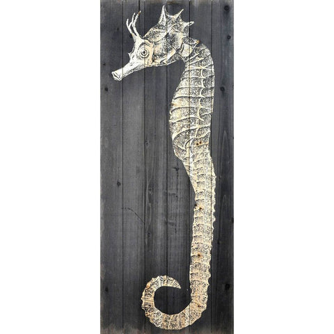 Seahorse II ~ Solid Fir Wood Planks - Cece & Me - Home and Gifts