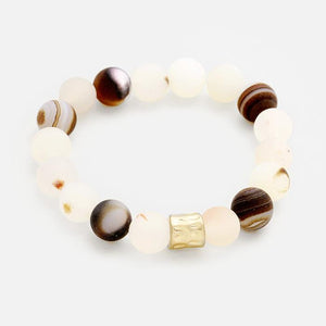 Semi Precious Stone Beaded Stretch Bracelet - Cece & Me - Home and Gifts