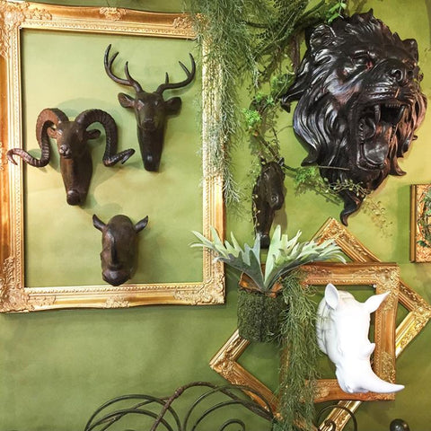 Image of Shabby Gorgeous Deco Deer Black - Cece & Me - Home and Gifts