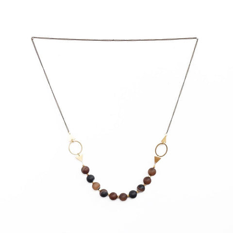 Image of Shapeshifter Necklace ~ Coffee Agate - Cece & Me - Home and Gifts