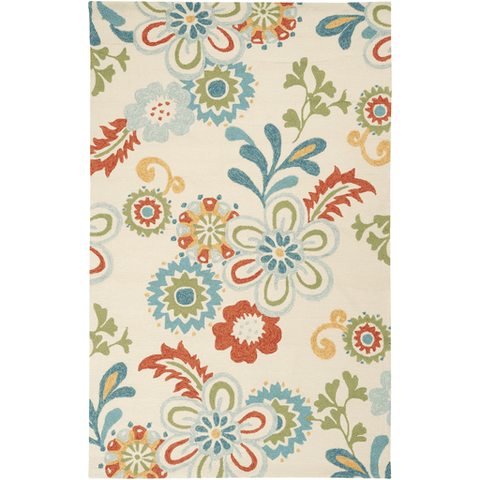 Image of Shergold Rug ~ Sky Blue/Burnt Orange/Khaki - Cece & Me - Home and Gifts