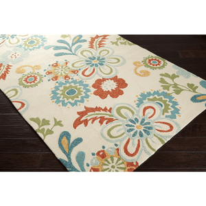 Shergold Rug ~ Sky Blue/Burnt Orange/Khaki - Cece & Me - Home and Gifts
