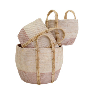 New Shore Baskets (Set of 3) ~ Pink - Cece & Me - Home and Gifts