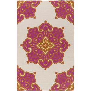 Skye Rug ~ Bright Orange/Bright Pink/Beige/Mustard - Cece & Me - Home and Gifts