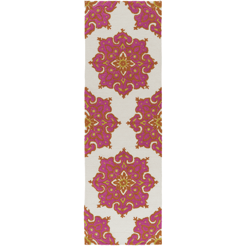 Image of Skye Rug ~ Bright Orange/Bright Pink/Beige/Mustard - Cece & Me - Home and Gifts