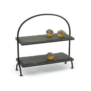 Slate Two Tiered Stand - Cece & Me - Home and Gifts