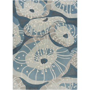 Solace Sea Rug ~ Denim/Sage/Light Gray - Cece & Me - Home and Gifts