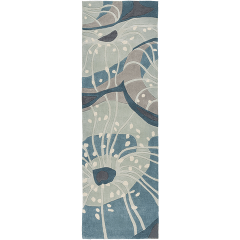 Image of Solace Sea Rug ~ Denim/Sage/Light Gray - Cece & Me - Home and Gifts