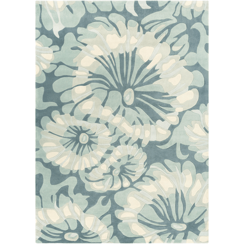 Image of Solace Sea Rug ~ Navy/Sage/Sea Foam - Cece & Me - Home and Gifts