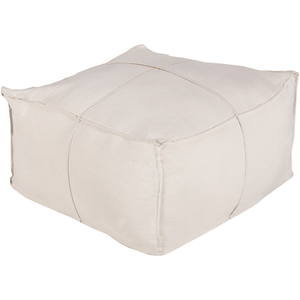Solid Linen Pouf ~ Ivory - Cece & Me - Home and Gifts